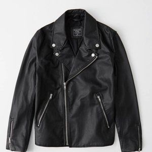 NWT Mens Faux Leather Moto Jacket-XL